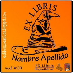 ExLibris Sombrero Harry Potter