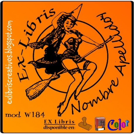 ExLibris Brujita Pin-up
